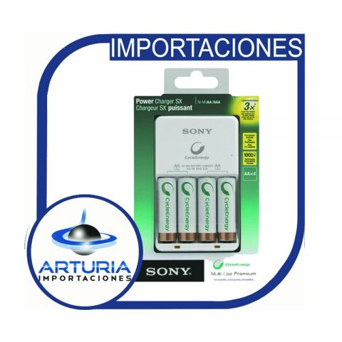 cargador-sony-4-pilas-aa-2500mah-cycle-energy