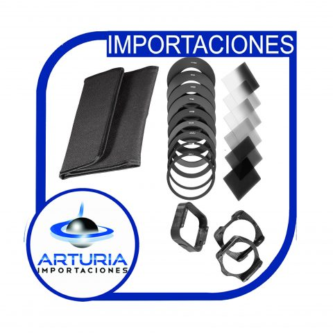 Kit filtros nd 2.4.8.16 con adaptadores de varios diametros pg-01